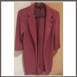 Womens spring rose pink small lightweight overcoat